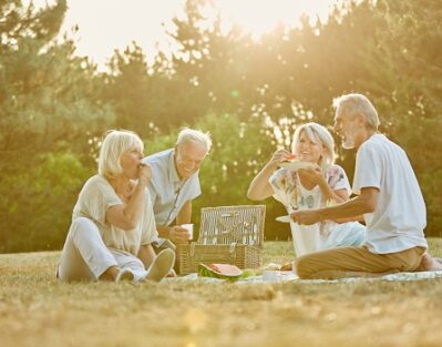 Group of Seniors in the Park